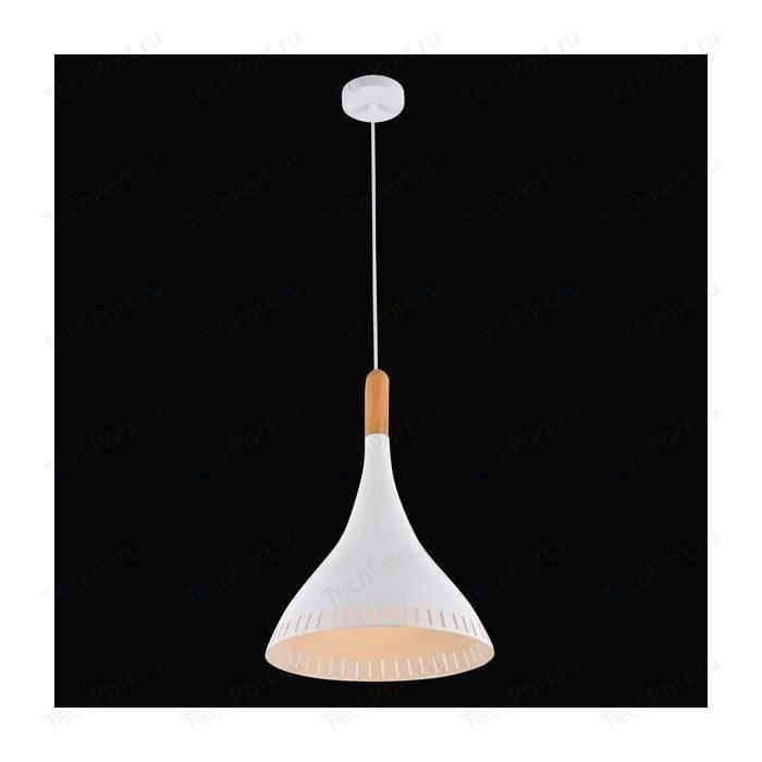 Подвесной светильник Eurosvet 50074/1 белый/светлое дерево