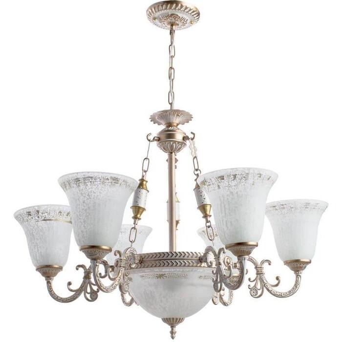 люстра apl22338791 6 chrome люстра arte perfetto luce Подвесная люстра Arte Lamp A1032LM-6-3WG