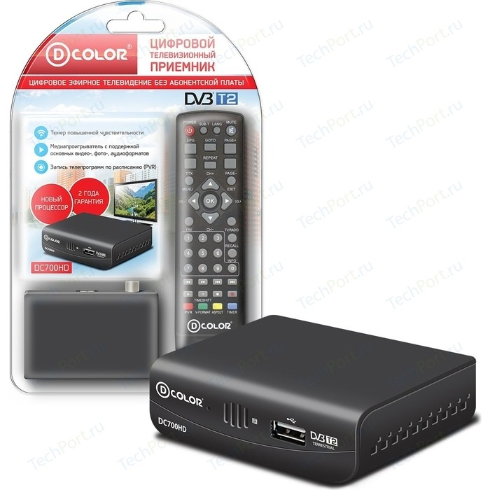 Тюнер DVB-T2 D-Color DC700HD