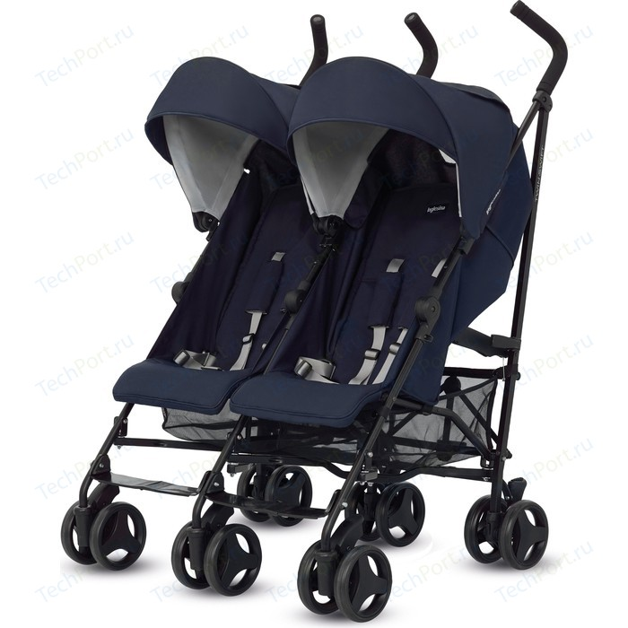 коляски для двойни и погодок Прогулочная коляска Inglesina для двойни Twin Swift (цвет Marina) (AH84H0MAR)