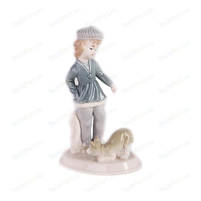 Керамическая фигурка Snowmen Мальчик с собакой 18 см (Е92354)