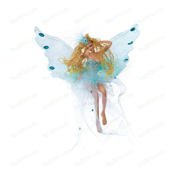 Сувенир Snowmen фея сидящая с голубыми крыльями 14см (Е80693)