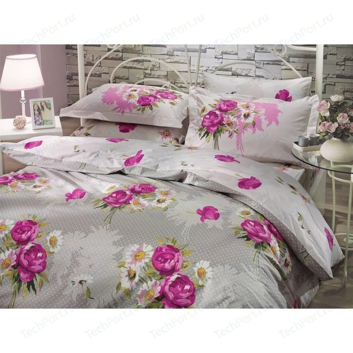 Комплект постельного белья Hobby home collection 1,5 сп, поплин, Calvina, светло-серый (1501000067)