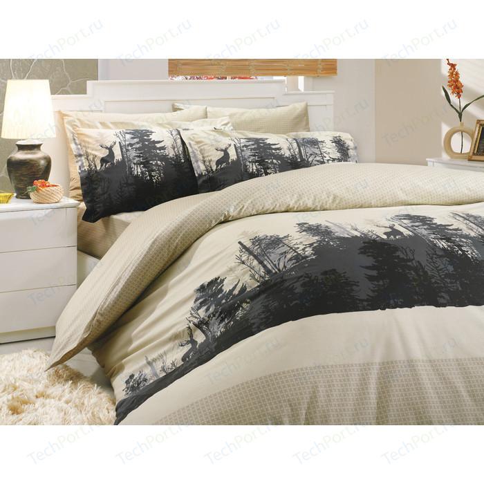 Комплект постельного белья Hobby home collection Семейный, поплин, Tierra, бежевый (1501000184)