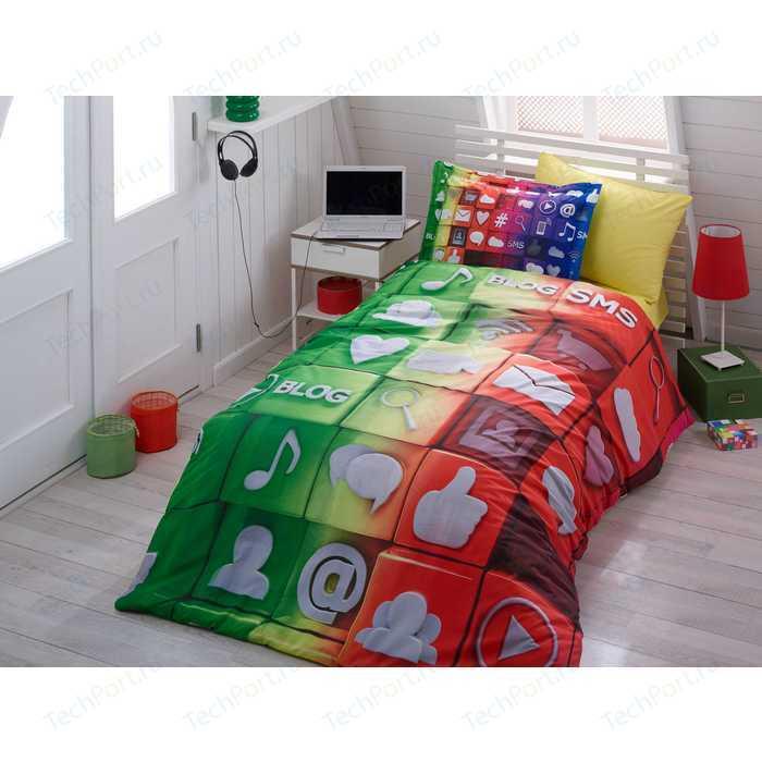 Комплект постельного белья Hobby home collection 1,5 сп, поплин, Tweet, (1501000894)