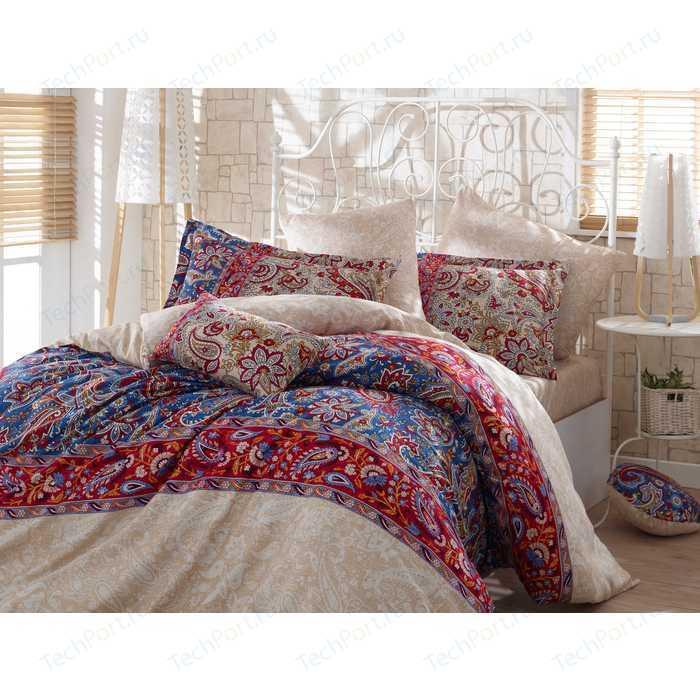 Комплект постельного белья Hobby home collection 1,5 сп, сатин, Caterina, красный (1607000140)