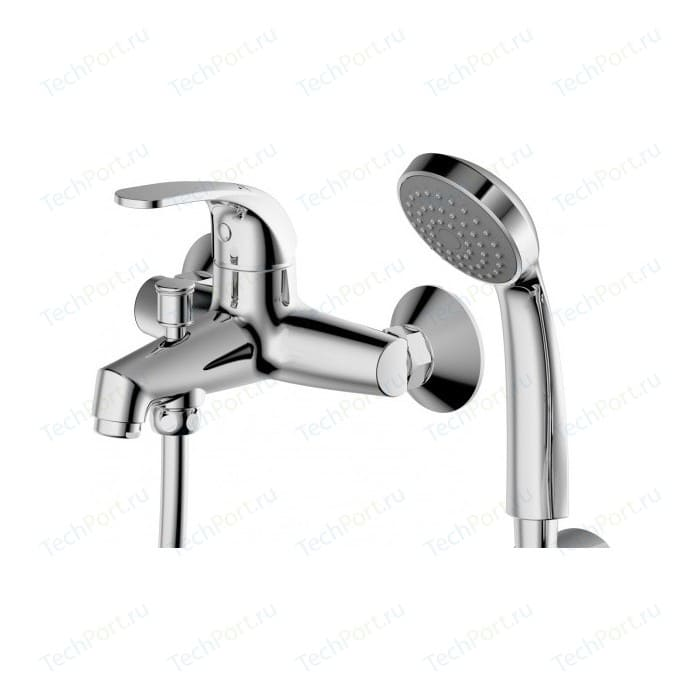 Фото - Смеситель для ванны Bravat Fit с лейкой (F6135188CP-B-RUS/F6135188CP RUS) смеситель для ванны bravat fit f6135188cp b rus хром