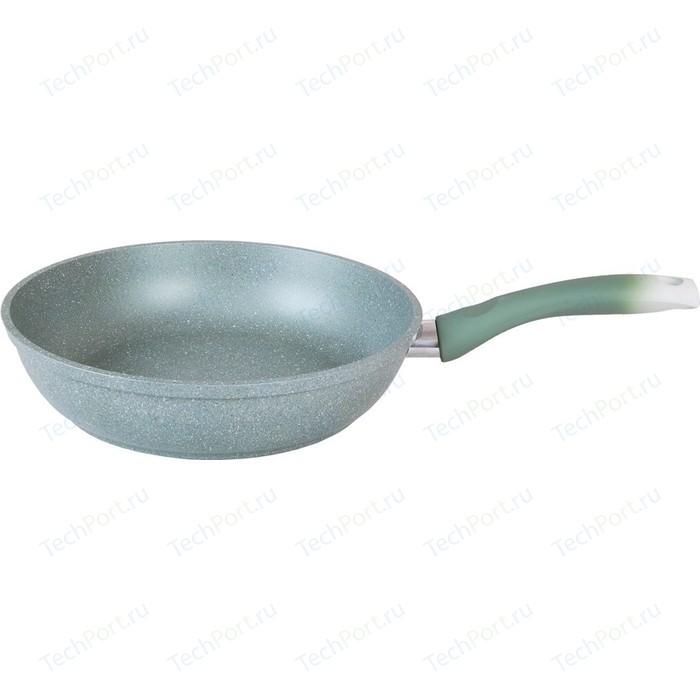 Сковорода Kukmara d 22см Мраморная (смф227а Фисташковый мрамор) сковорода d 24 см kukmara мраморная смс241а светлый мрамор