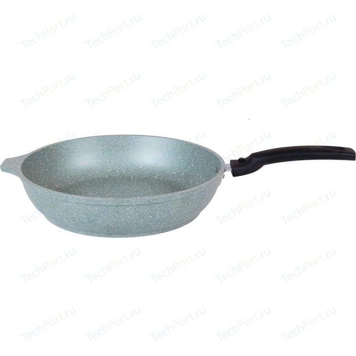 Сковорода со съемной ручкой Kukmara d 22см Мраморная (смф222а Фисташковый мрамор) сковорода d 24 см kukmara кофейный мрамор смки240а