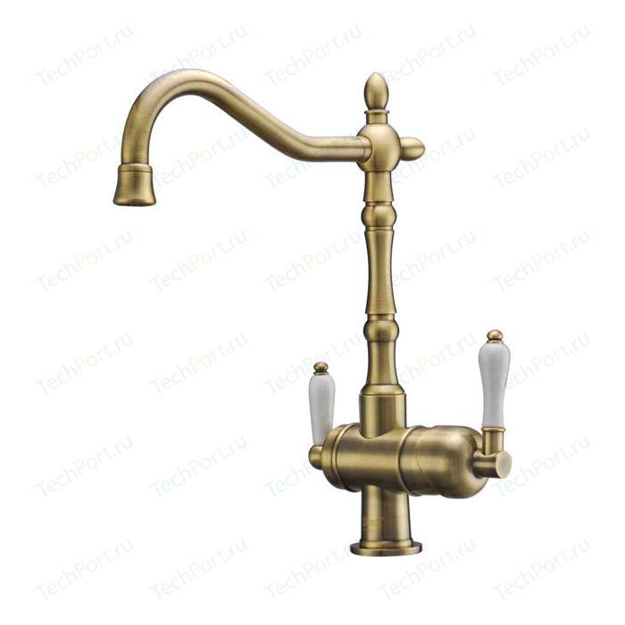 Смеситель для кухни ZorG Clean Water под фильтр, бронза (ZR 326 YF BR)
