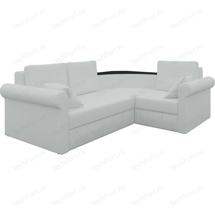 цена Угловой диван Мебелико Юта-2 правый, весь - Легенда белый онлайн в 2017 году