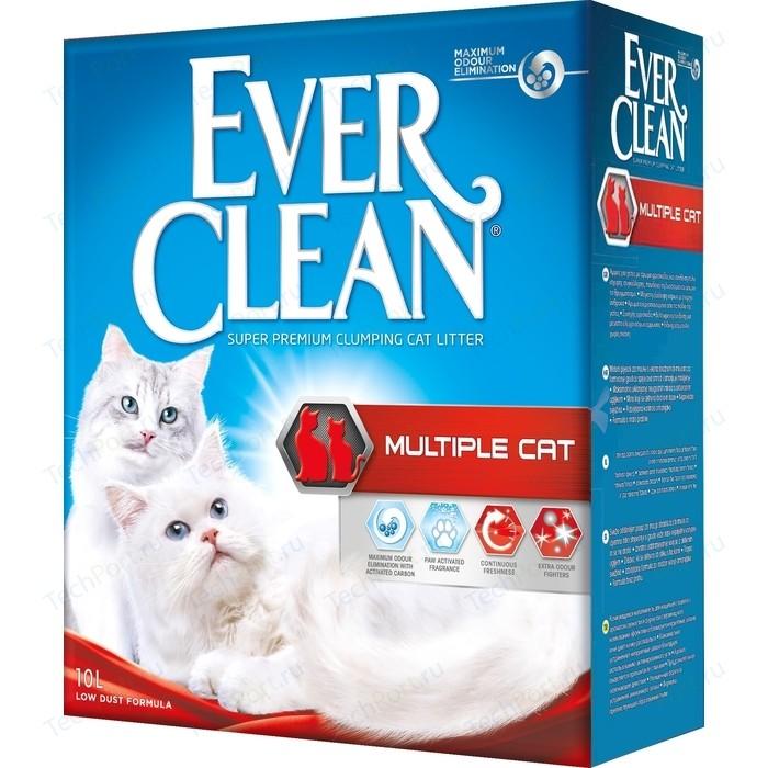 Наполнитель Ever Clean Multiple Cat комкующийся с ароматизатором для нескольких кошек в доме 10л