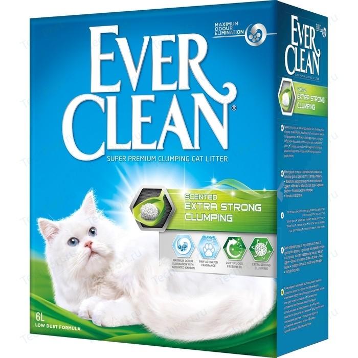 Наполнитель Ever Clean Extra Strong Clumping Scented экстра контроль запаха комкующийся с ароматизатором для кошек 6л