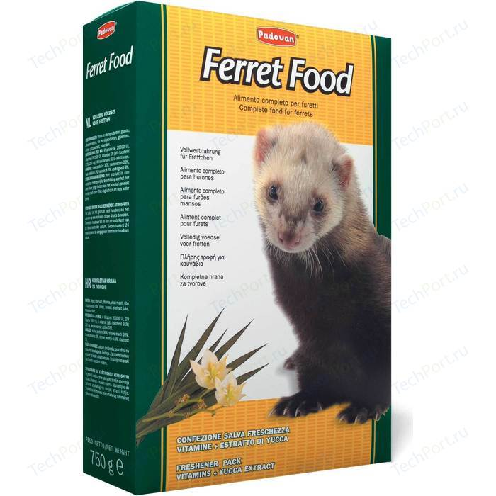 Корм Padovan FERRET Food комплексный основной для хорьков 750г