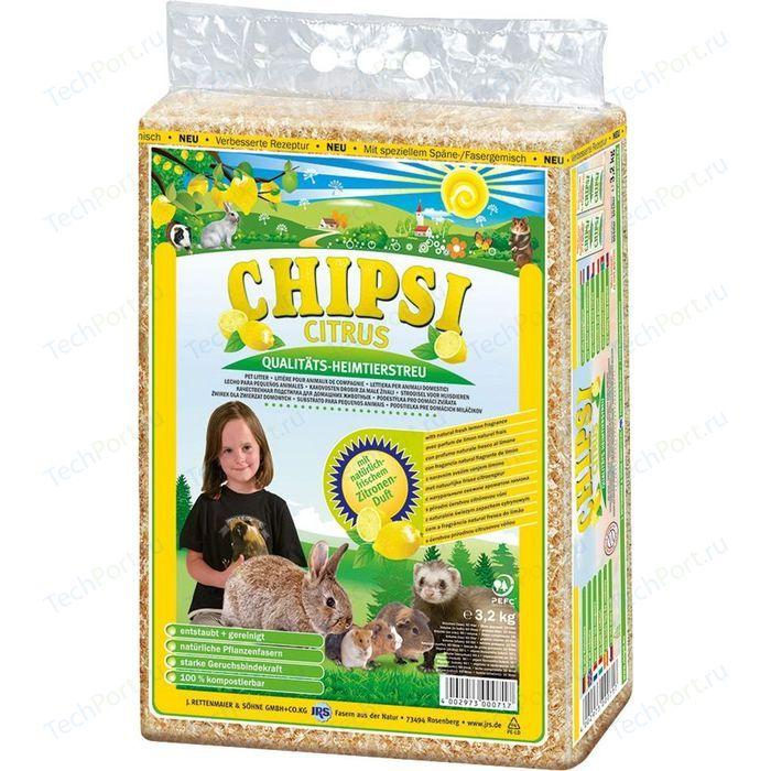 Наполнитель Cats Best Chipsi Mais Citrus кукурузный с ароматом цитрусовых для грызунов и птиц 4,6кг (10л)