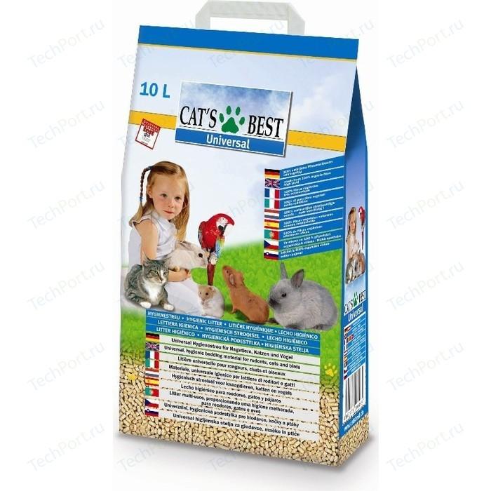 Наполнитель Cats Best Universal древесный впитывающий для кошек, грызунов и птиц 5,5кг (10л)