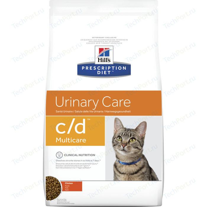 Сухой корм Hills Prescription Diet c/d Urinary Care Milticare with Chicken с курицей диета при профилактике МКБ для кошек 5кг (9043)