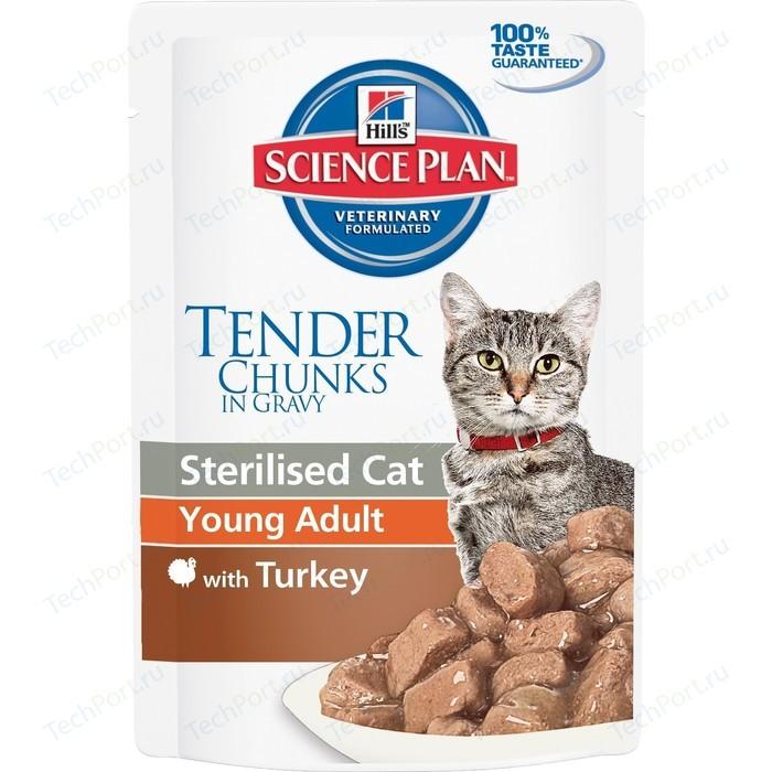 Паучи Hills Science Plan Optimal Care Young Adult with Turkey с индейкой для стерилизованных кошек от 6 мес до лет 85г (3765)
