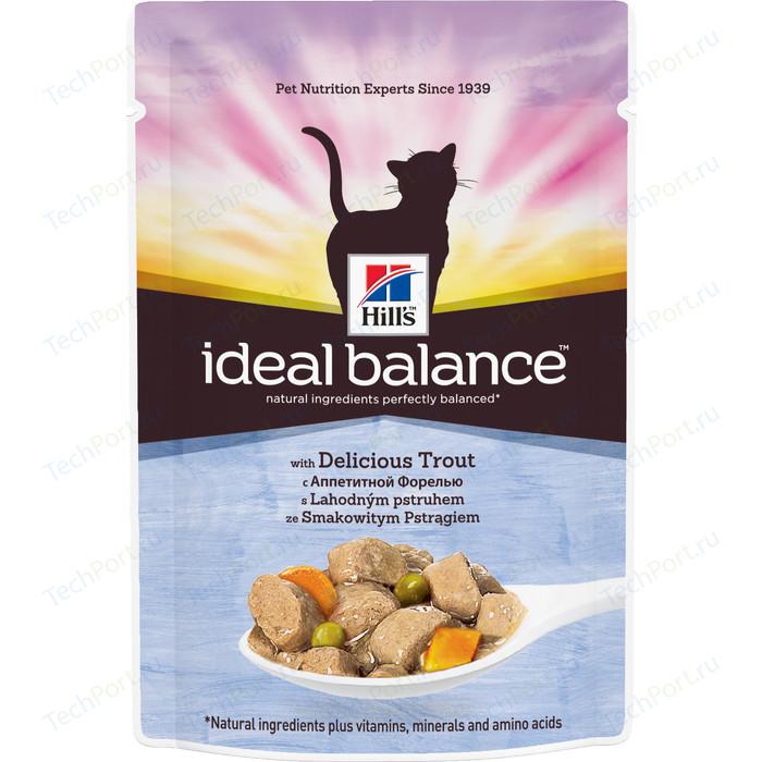 Паучи Hills Ideal Balance with Delicious Trout с аппетитной форелью и овощами для кошек 82г (10026)