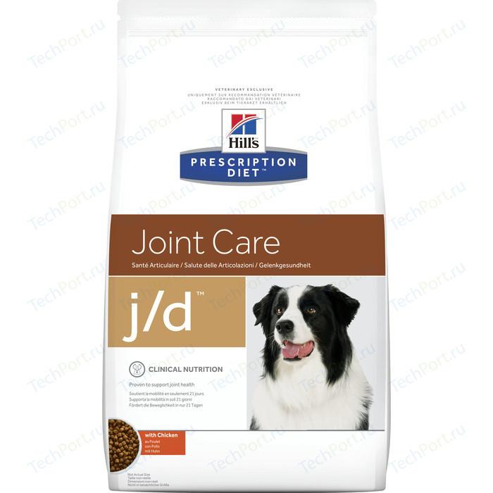 Сухой корм Hills Prescription Diet j/d Joint Care with Chicken с курицей диета при лечении заболеваний суставов для собак 2кг (4516)