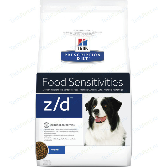 Сухой корм Hills Prescription Diet z/d Food Sensitivities Original диета при лечении пищевых аллергий для собак 3кг (8887)