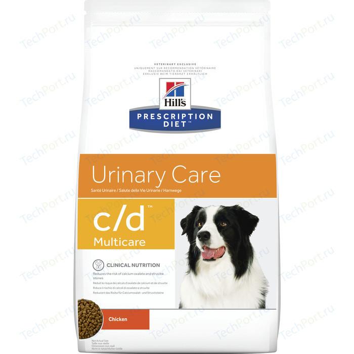 Сухой корм Hills Prescription Diet c/d Urinary Care Milticare with Chicken с курицей диета при профилактике МКБ для собак 12кг (9176)