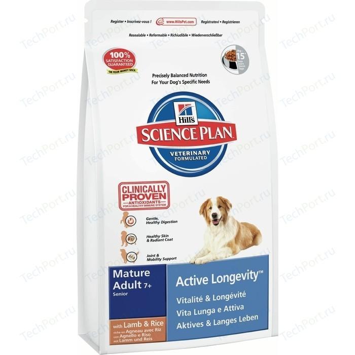 Сухой корм Hills Science Plan Active Longevity Medium Mature Adult 7+ Lamb & Rice с ягненком и рисом для пожилых собак средних пород 12кг (9273)