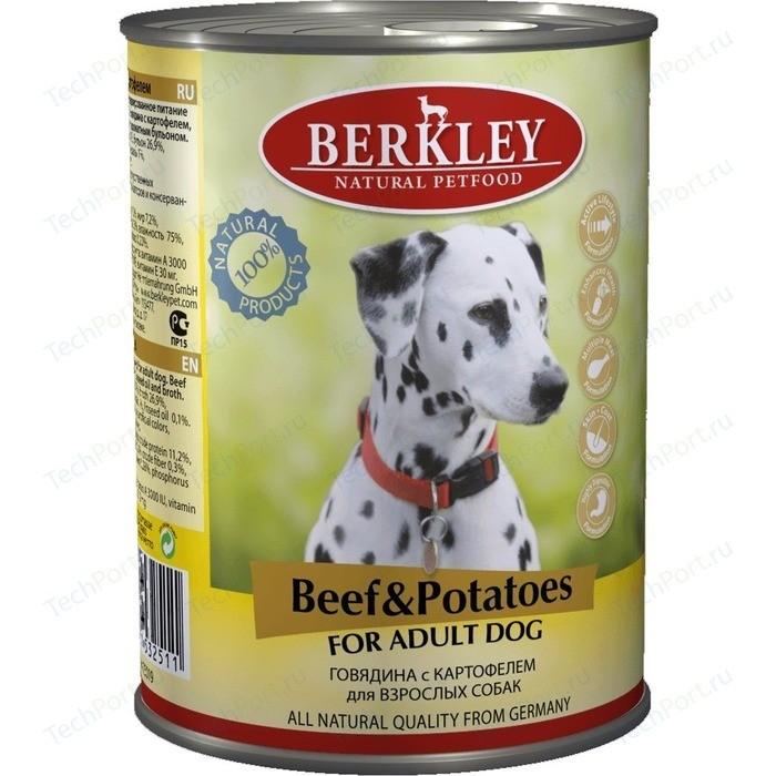 Консервы Berkley For Adult Dog Beef & Potatoes с говядиной и картофелем для взрослых собак 400г (75019)