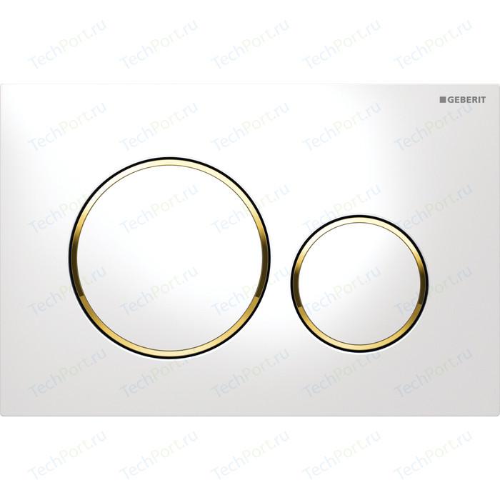 Кнопка смыва Geberit Sigma 20 белый/золото (115.882.KK.1)