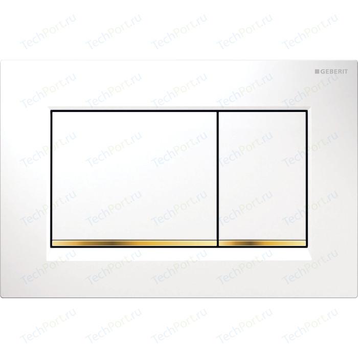 Кнопка смыва Geberit Sigma 30 белая/золото (115.883.KK.1)