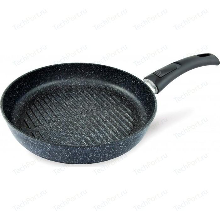 Сковорода-гриль со съемной ручкой НМП d 24см Природные минералы (254424) сковорода гриль со съемной ручкой нмп d 26см ферра 54026