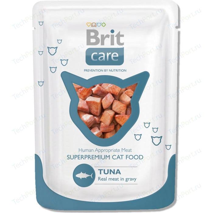 Паучи Brit Care Cat Tuna с тунцом для кошек 80г (100119)