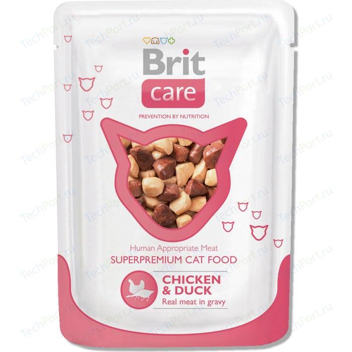 Паучи Brit Care Cat Chicken & Duck с курицей и уткой для кошек 80г (100121)