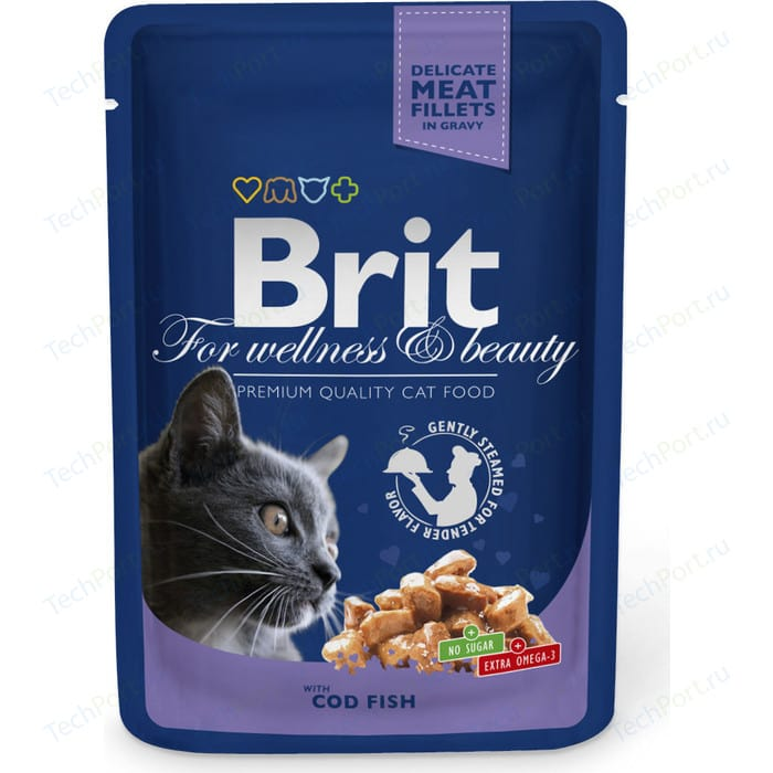 Фото - Паучи Brit Premium Cat Cod Fish с треской для кошек 100г (100307) паучи brit premium cat cod fish с треской для кошек 100г 100307