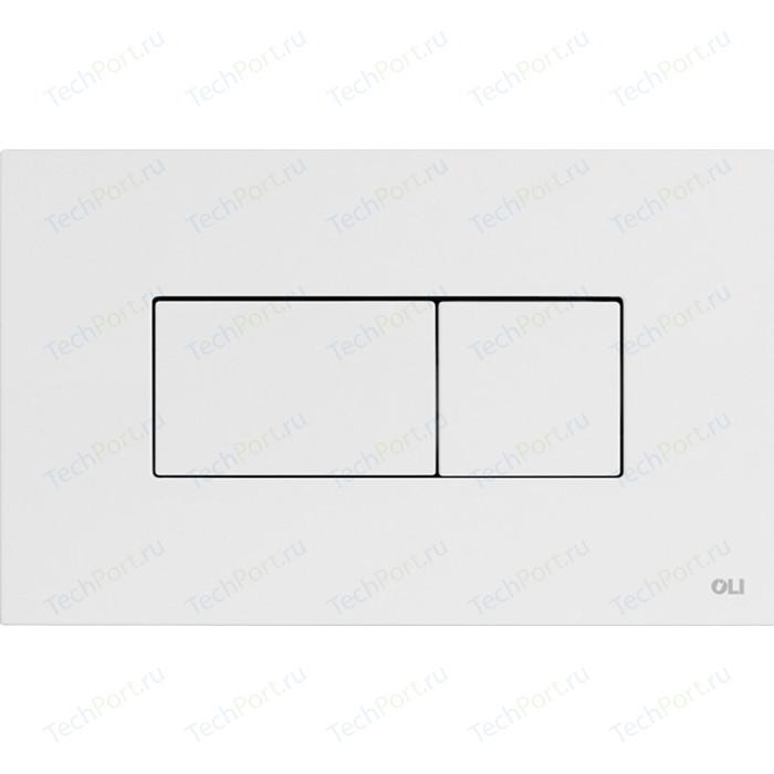 Кнопка смыва OLI Karisma пневматическая, белая (641001)