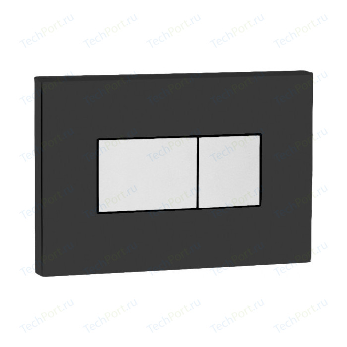 Кнопка смыва OLI Karisma пневматическая, черная, кнопка хром (641017)