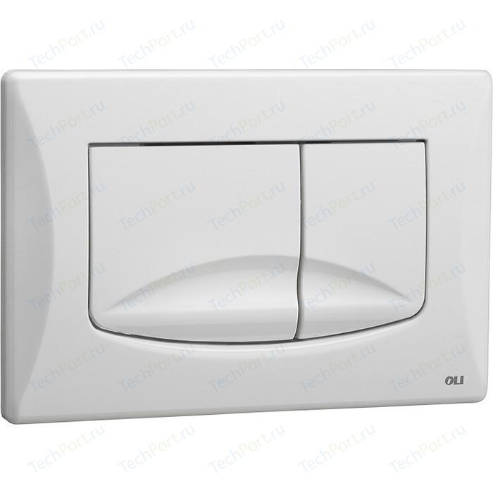 Кнопка смыва OLI River Dual механическая, белая (638501)