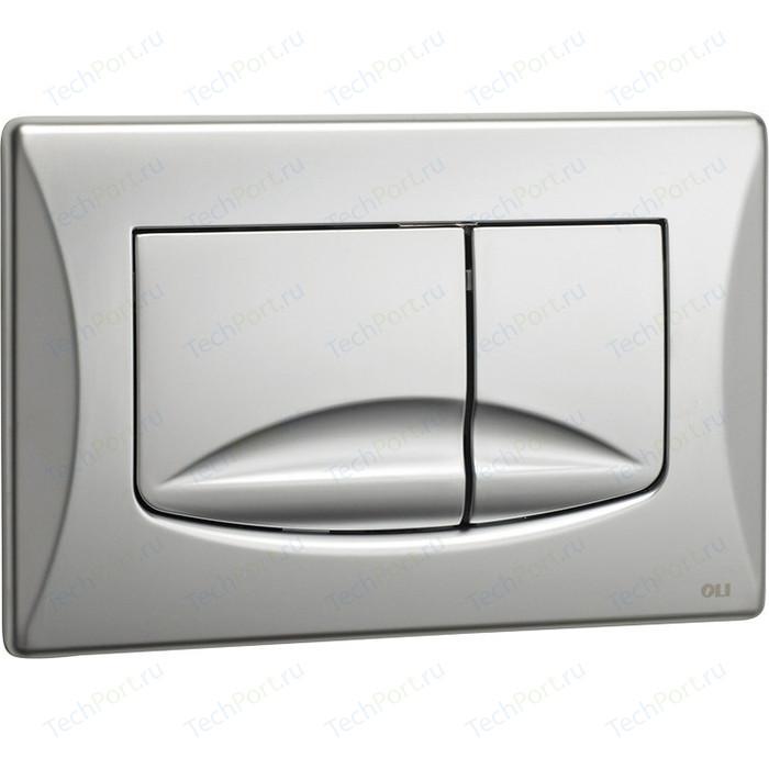 Кнопка смыва OLI River Dual механическая, хром матовый (638506)