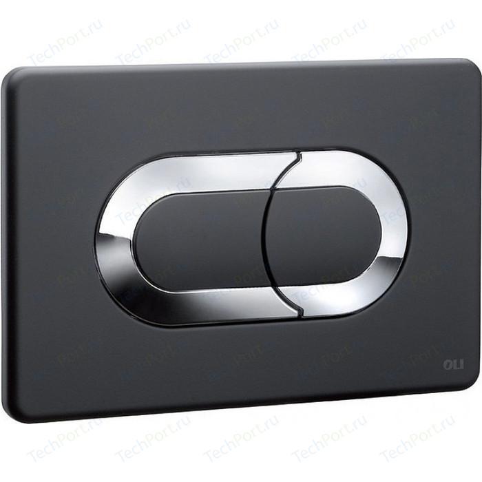 Кнопка смыва OLI Salina пневматическая, черный/хром (640097)