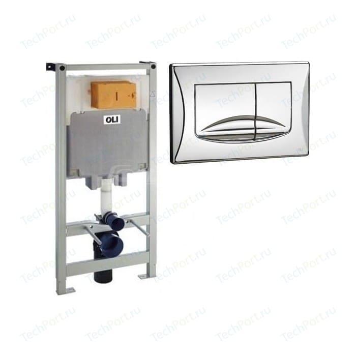 Инсталляция для унитаза OLI Oli 80 механическая, панель слива River, хром (300572 + 638504)