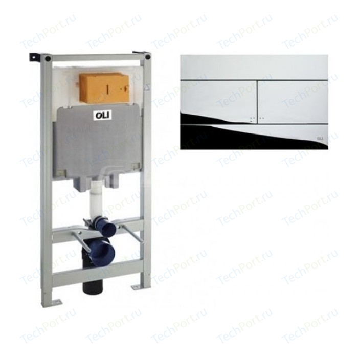 Инсталляция для унитаза OLI Oli 80 механическая, панель слива Slim, хром (300572 + 659044)