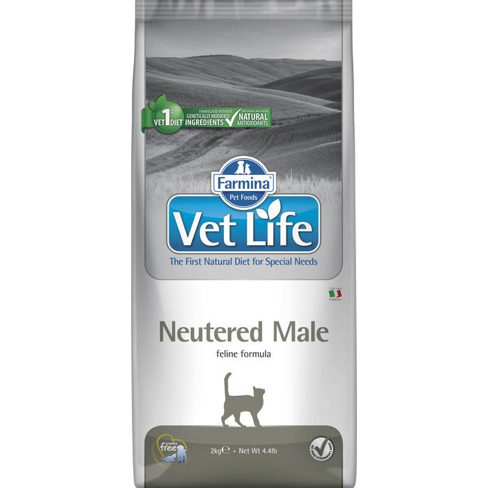 Сухой корм Farmina Vet Life Neutered Male Feline диета для кастрированных котов 2кг