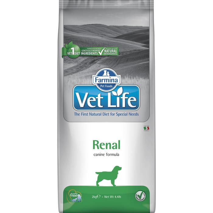 Сухой корм Farmina Vet Life Renal Canine диета при заболеваниях почек для собак 2кг