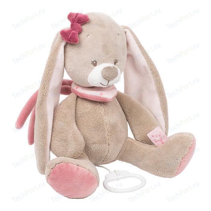 Игрушка мягкая Nattou Musical Soft toy (Наттоу Мьюзикал Софт Той) Nina, Jade & Lili Кролик музыкальная 987059