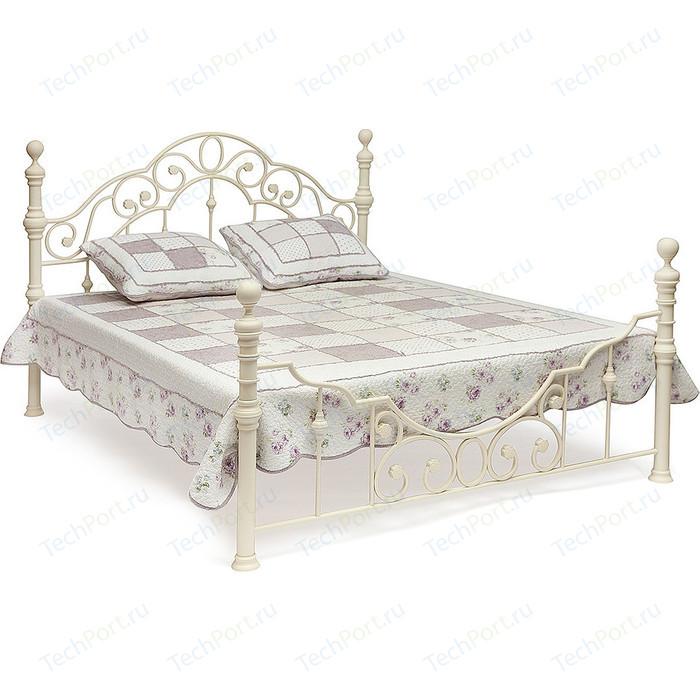 Кровать металлическая TetChair VICTORIA 160x200, цвет античный белый тумба прикроватная tetchair derby цвет античный белый