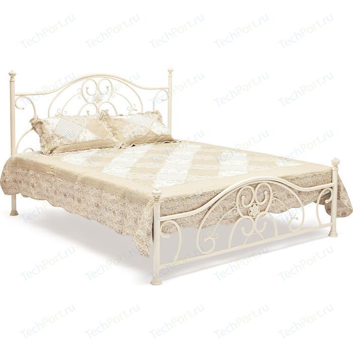 Кровать металлическая TetChair ELIZABETH 160x200, цвет античный белый
