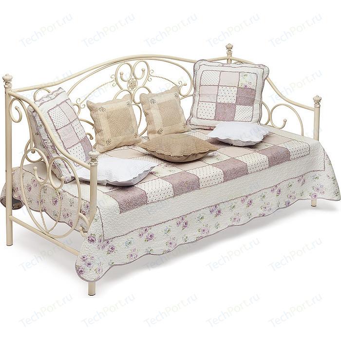 Кровать металлическая TetChair JANE 90x200, цвет античный белый