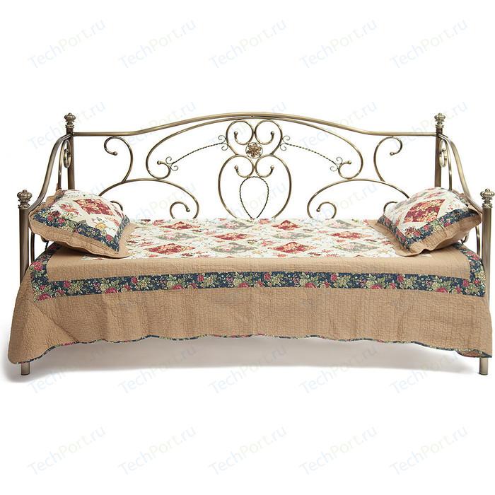 Кровать металлическая TetChair JANE 90x200, цвет античная медь