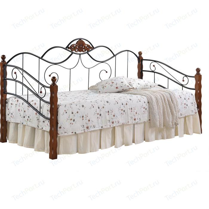 Кровать TetChair CANZONA 90x200 черный/красный дуб