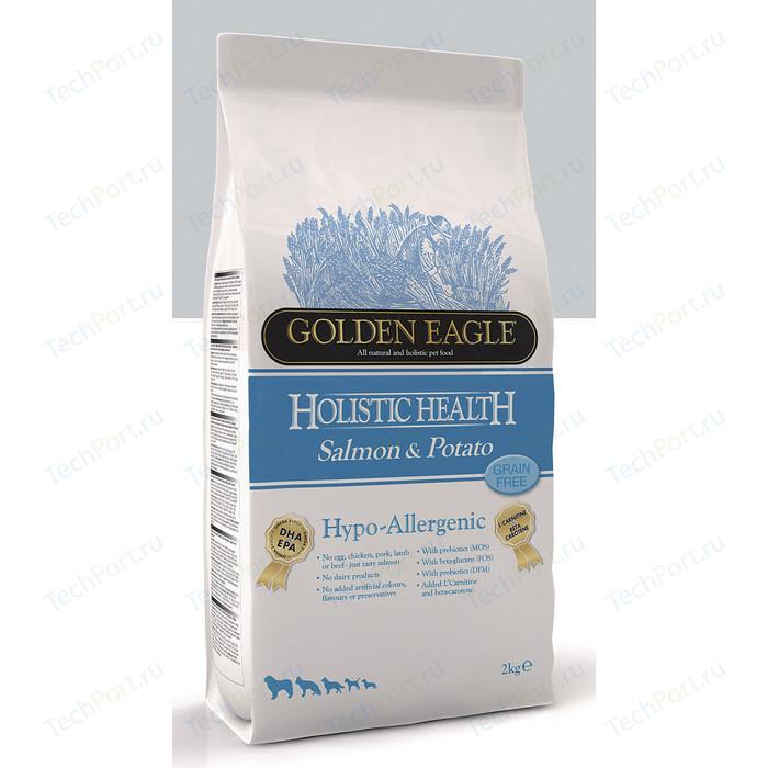 Сухой корм Golden Eagle Holistic Health Hypo-Allergenic GF Salmon & Potato беззерновой гипоаллергенный с лососем и картофелем для собак 2кг (235012) корм для собак golden eagle 2 кг hypo allergenic salmon